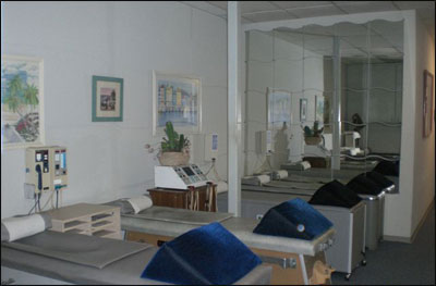 Treatment Bay of San Diego Chiropractor Marc Lewis DC